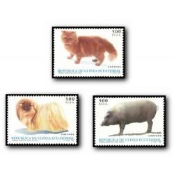 1995 Guinea Ecuat. Animales Domésticos (Edif.196/8)**