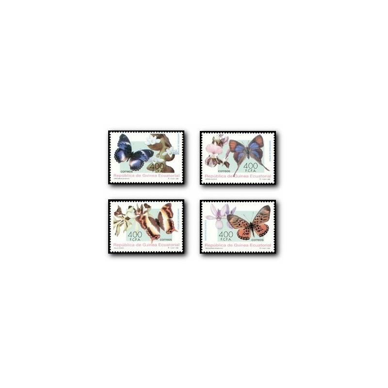 1995 Guinea Ecuat. Mariposas y Orquídeas de África (Edif.199/202)**
