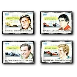 1996 Guinea Ecuat. Campeones Automovilísticos (Edif.210/213) **