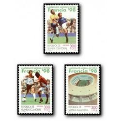 1997 Guinea Ecuat. Mundial de Fútbol Francia 1997 (Edif.241/243) **