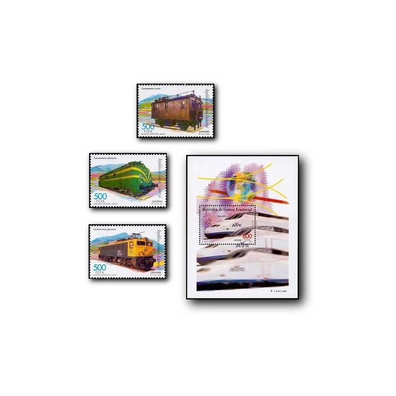 2000 Guinea Ecuat. Ferrocarriles (Edif.271/274) **