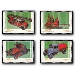 2001 Guinea Ecuat. Vehículos de bomberos (Edif.280/283) **