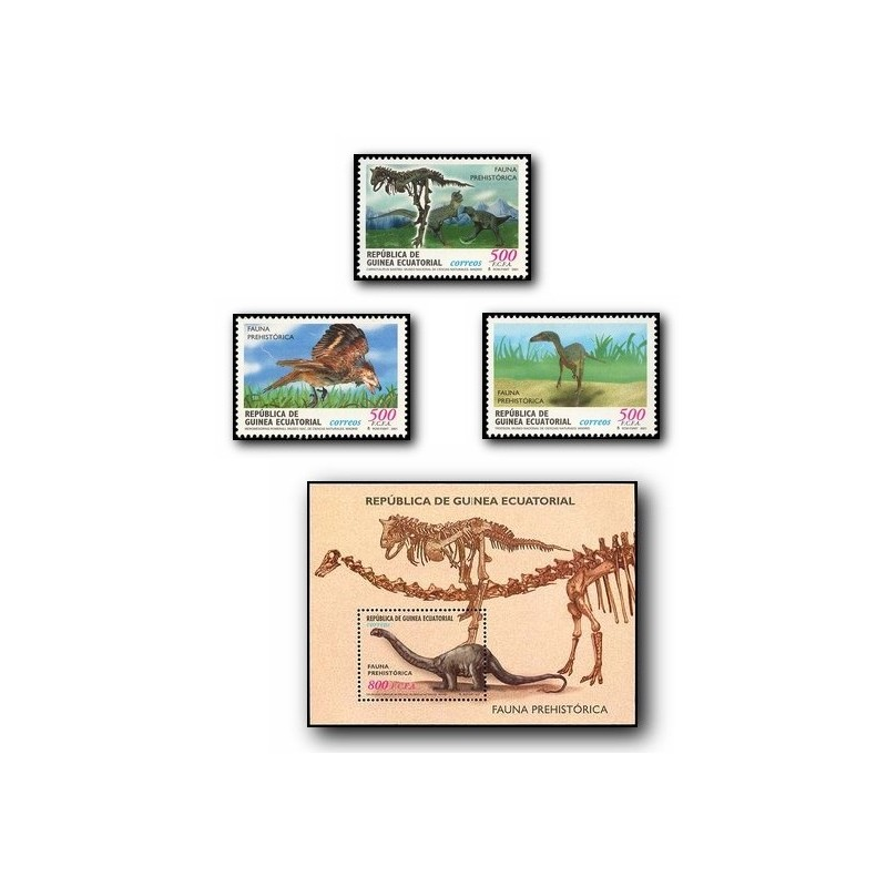 2002 Guinea Ecuat. Fauna Prehistórica (Edif.284/87) **