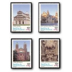 2005 Guinea Ecuat. Arquitectura Románica (Edif.349/352) **