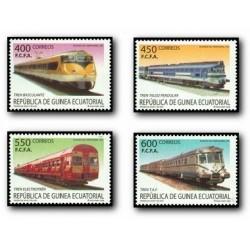 2005 Guinea Ecuat. Trenes de ayer y hoy (Edif.360/363) **