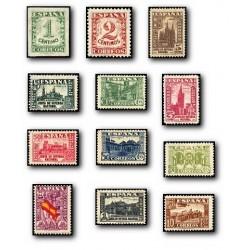 1936/37 Sellos de España. Junta de Defensa Nacional. (Edif.802/13) **
