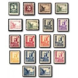 1937-1940 España. Cifras, Cid e Isabel. (Edif.814/31) **