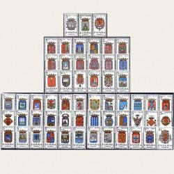 1962/66 España Escudos de Capitales de Provincia (57 valores) **