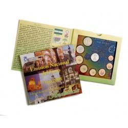 2008 España Euroset (2 carteritas medalla Andalucía y Aragón)