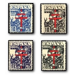 1941 España. Pro Tuberculosis. Edif.948/51 **