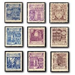 1944 Sellos de España (974/982). Milenario de Castilla.**