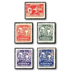 1945 España. Pro Tuberculosos. Edif.993/997 **