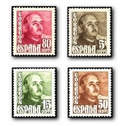 1948 Sellos de España (1020/23). General Franco.