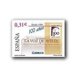 2008 Sellos de España. Diarios Centenarios - La Voz de Avilés (Edif. 4386)*