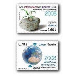 2008 Sellos de España. Ciencias de la Tierra y el Universo (Edif. 4387/88)*