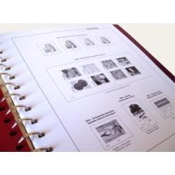 Suplemento Anual Hojas Anfil España 2001 sellos cortados de H.B.