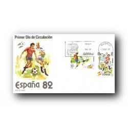 1981 SPD España. Copa Mundial de Fútbol España '82. (Edif.2613/14)