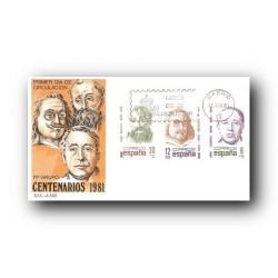 1981 SPD España. Centenarios. (Edif.2618/20)