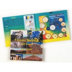 2009 España Euroset (2 carteritas medalla Canarias y Cantabria)