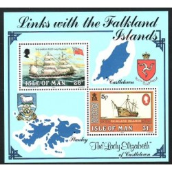 1984 Isla de Man. Lineas con las Islas Falkland (Yvert H.B. 7) **