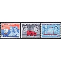 1961 Granada. Centenario Postal 1861-1961 (Yvert 178/180) **