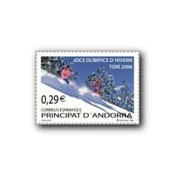 2006 Sellos Andorra Español. JJ.OO. Invierno Turín (Edif.334)**