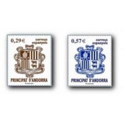 2006 Sellos Andorra Español. Escudo de Andorra (Edif.335/6)**