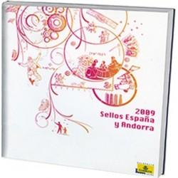 Álbum de sellos Correos España y Andorra 2009