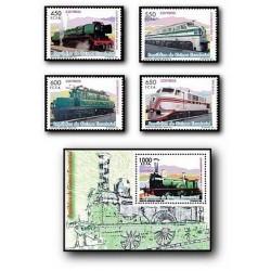 2007 Sellos de Guinea Ecuatorial. Trenes **