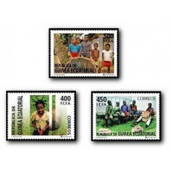 2008 Sellos de Guinea Ecuatorial. El niño africano. **