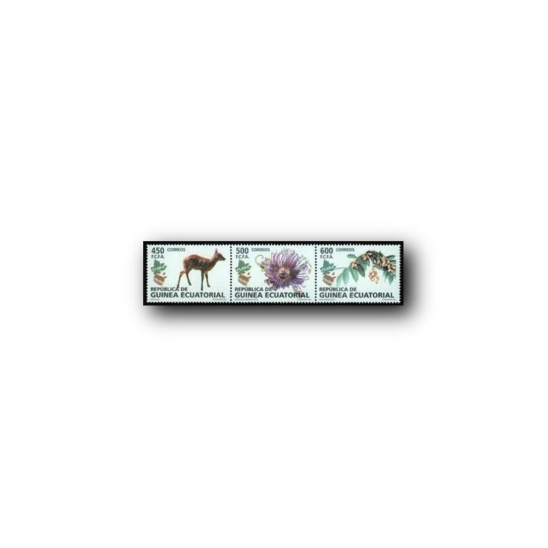 2008 Sellos de Guinea Ecuatorial. Flora y Fauna. **