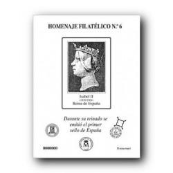 2010 Hoja Homenaje 1º Sello Español (nº 6)