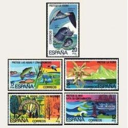1978 Sellos de España (2469/73). Protección a la Naturaleza.