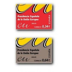 2010 Sellos de España (4547-48). Presidencia Española de la U.E.