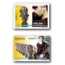 2010 Sellos de España (4553-54). Cine Español **