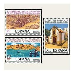 1978 Sellos de España (2477/79). V Centenario de Las Palmas de G. Canaria.