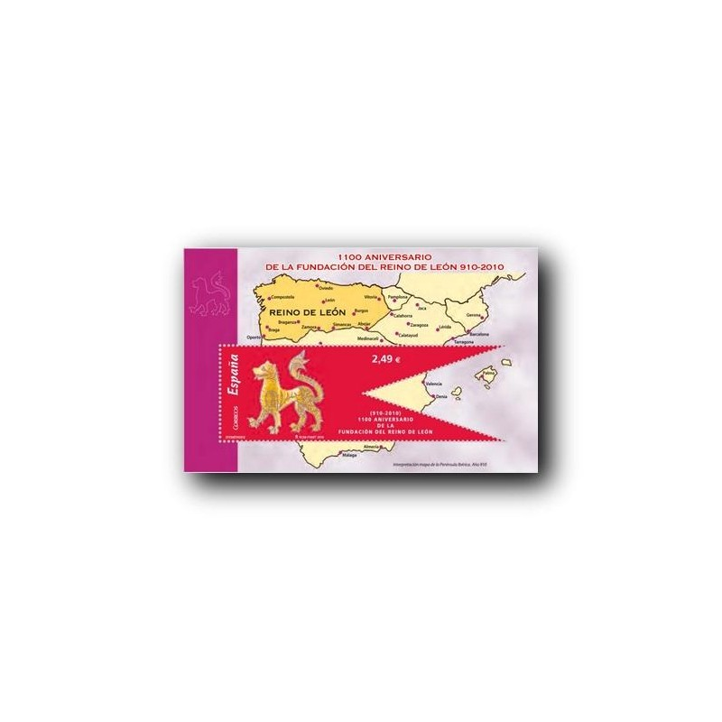 Sellos de España 2010. 1100 Aniv. del Reino de León. **