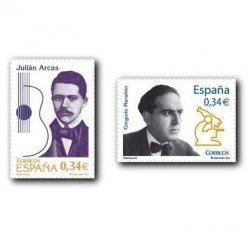 2010 Sellos de España (4572-73). Personajes.