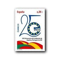 Sellos de España 2010. Adhesión España y Portugal en la C.E.E. **