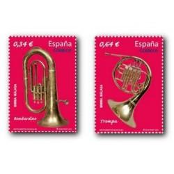 Sellos de España 2010. Instrumentos, Bombardillo y Trompa. **