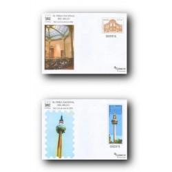 2008 España. Sobres Feria Nacional del Sello (Edifil 120/121) **