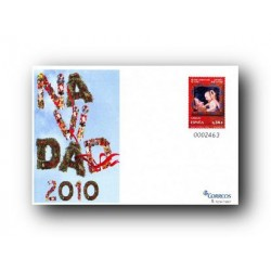 2010 España. Sobre Entero Postal Navidad '10