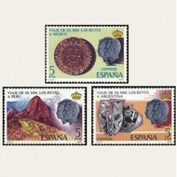 1978 Sellos de España (2493/95). Viaje de SS.MM. los Reyes a Hispanoamérica