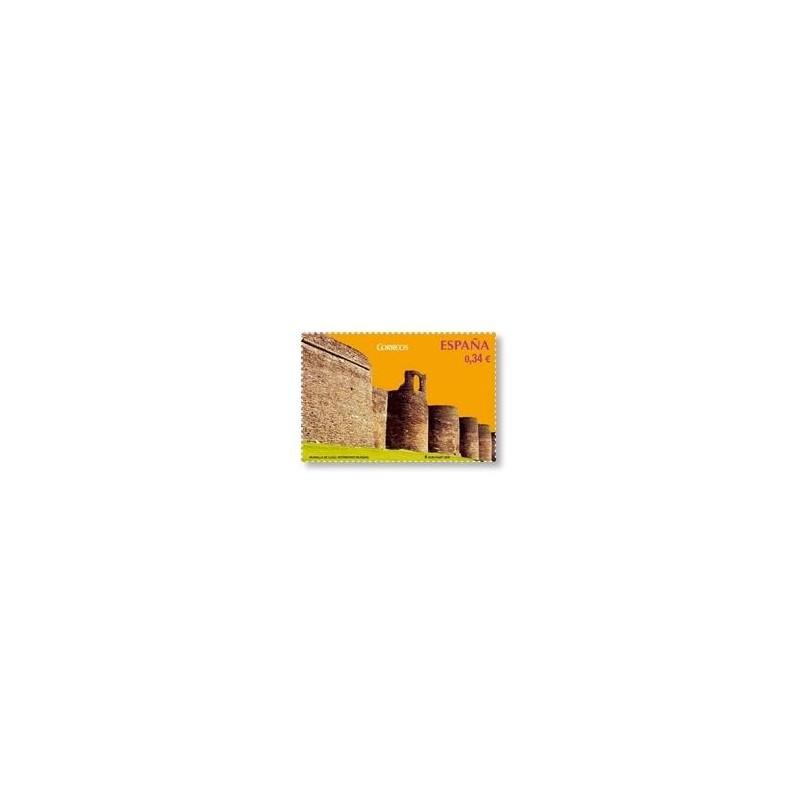 Sellos de España 2010. Patrimonio Mundial. Muralla de Lugo. **