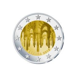 Moneda 2 euros conmemorativa. España 2010. Mezquita de Córdoba