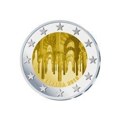 Moneda 2 euros conmemorativa España 2010. Mezquita de Córdoba