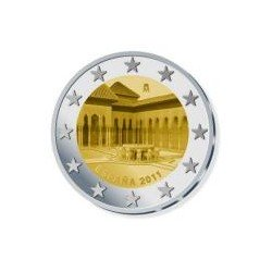 Moneda 2 euros conmemorativa España 2011. Alhambra
