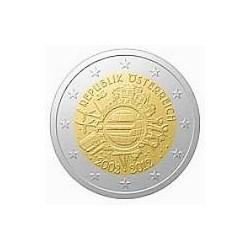 Moneda 2 euros conmemorativa 10º Aniv. Euro. Austria 2012