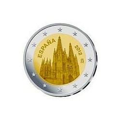 Moneda 2 euros conmemorativa España 2012 Catedral de Burgos