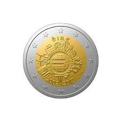 Moneda 2 euros conmemorativa Irlanda 2012 10º Aniv. Euro